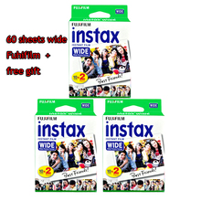 High qulaity Original Fujifilm Instax Instant Wide Film 60 White Sheets For 300 200 210 100 500AF free shipping