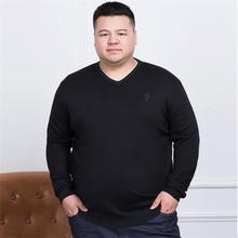 10XL 8XL 6XL 5XL Sweater Man 100% Pure Cashmere Knitted Winter Warm Pullovers V-neck Long Sleeve Standard Sweaters Male Jumper (China)