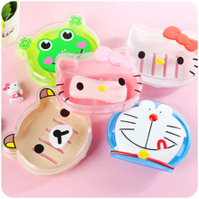 NEW Hello Kitty Kawaii Cute Cartoon Thicken drain Soap Dish Storage Box Soap Holder Tray Case Bathroom accessories decoration