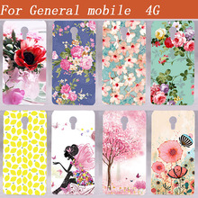 For General Mobile 4G  Hard Shell  Cover 5.0 Inch Classical Case High Heel Pink Design Luxury Printed Painting Phone Back Cover