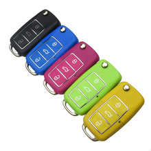 Auto Car Key Shell For Volkswagen for Vw for Seat for Skoda Jetta Golf Passat Beetle Polo Bora 3 Button Replacement Flip Remote