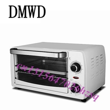 DMWD 10L Electric Mini Oven Home Freestanding Pizza cake Toaster Oven Timer Kitchen Appliances(China)