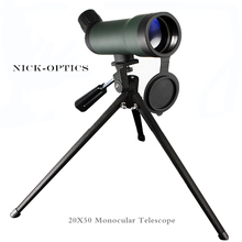 Monocular telescope 20x50 Zoom HD monocular binoculars lll night vision Eyepiece Bird Watching Spotting Scope High Clear Vision(China)