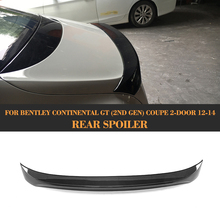 Carbon fiber Rear Trunk Spoiler case for Bentley Continental Coupe 2 Door Only 2012 2013 2014 GT V8 Supersports D Style(China)