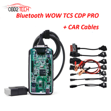 Bluetooth Wow CDP Scanner With Software V5.008 R2  Same As TCS CDP Plus Diagnostic Tool For Car Truck Till 2016 with Car Cables
