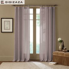 Mile grey voile tulle window princess curtains white sheers for livingroom drape transparent process green custom size for door