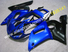 Hot Sales,YZFR6 black blue fairing For Yamaha YZF R6 fairing 1998 1999 2000 2001 2002 YZF-R6 98 99 00 01 02 (Injection molding)