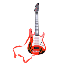 Rock Band Music Electric Guitar 4 Strings Kids Musical Instruments Educational Toy