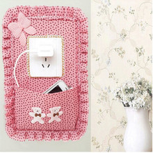 Fabric Switch Panel Stickers Pocket Socket Sets Mobile Phone Key Bag Switch Covers Household Wall Stickers Decor EJ679588