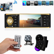 4019B 4.1 inch 1 Din Car Radio Audio Stereo USB AUX FM Radio Station Bluetooth with Rearview Camera Remote Control autoradio
