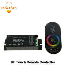 Touch LED RGB Controller RF Wireless Remote Control RGB / CT / DIM DC12-24V for LED Strip(China)