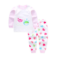 Cotton Kids Baby Clothing Sets Spring Brand Newborn Animal Long Sleeve Pants Suit Cheap Infant Baby Boy Set Girls Outfit Clothes