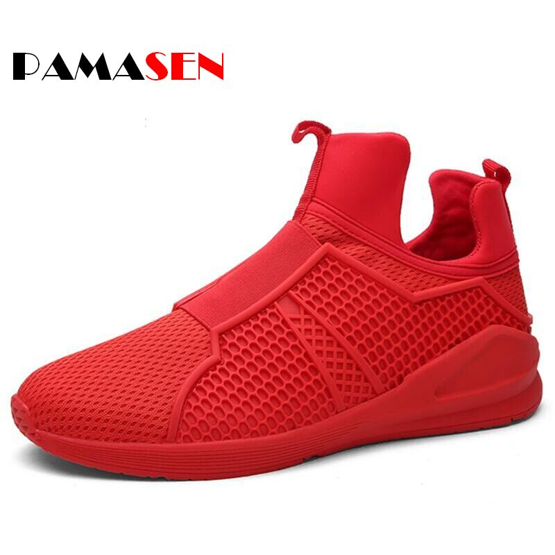 2017 Men Breathable Mesh Casual Shoes Fashion Mens Trainers Outdoor Sport Flats Walking Shoes zapatillas hombre Free Shipping<br><br>Aliexpress