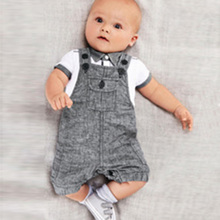 2PCS Infants Baby Boys Cloth Set T-shirt Top+Bib Pants Jumpsuit Overall Costume
