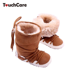 Newborn Cotton Soft Thick Baby Boy Girl Shoes Infant High-top Solid Boots Moccasins Warm Fleece Toddler First Walkers(China)