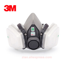 Affordable 3M 6200 dust mask+603 filter Adapter for 5N11 501 respirator mask anti dust smoke particulates Pollen powder cement(China)