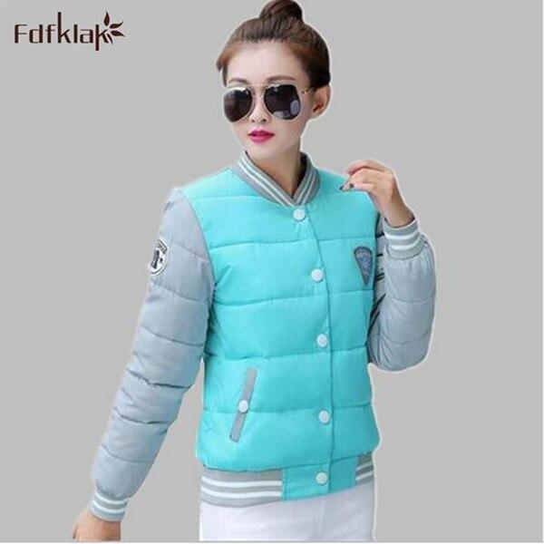 Short Jackets Women Baseball Clothes Long Sleeve Plus Size Womens Winter Jacket Stitching Cotton Coat Female Parka M-XXL E0676Одежда и ак�е��уары<br><br><br>Aliexpress