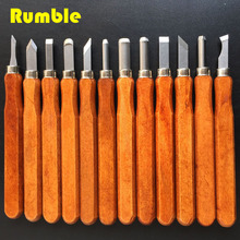 12pcs High Quality Alloy Steel Wood Carving Knife Carving Knife Kit Tools DIY Tools Chisels Knife For Beginner Convenient(China)