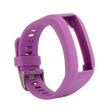 Replacement Silicone Band Strap Bracelet Garmin Vivosmart HR, One (No Tracker, Bands Only) (Purple) - Professionals Watch Store store