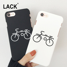 LACK Simple Bicycle Painting Hard Frosted Case For iphone 6 6s 7 Plus 5 5s Phone Cases For iphone 6 Fashion Couples Back Cover