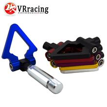 VR RACING - JDM Screw Aluminum CNC Triangle Ring Tow Towing Hook JDM RACE For LEXUS ES 2006+ VR013(China)