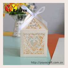 heart shaped ivory small gift boxes for candles favorable wedding thank you gifts box for guests