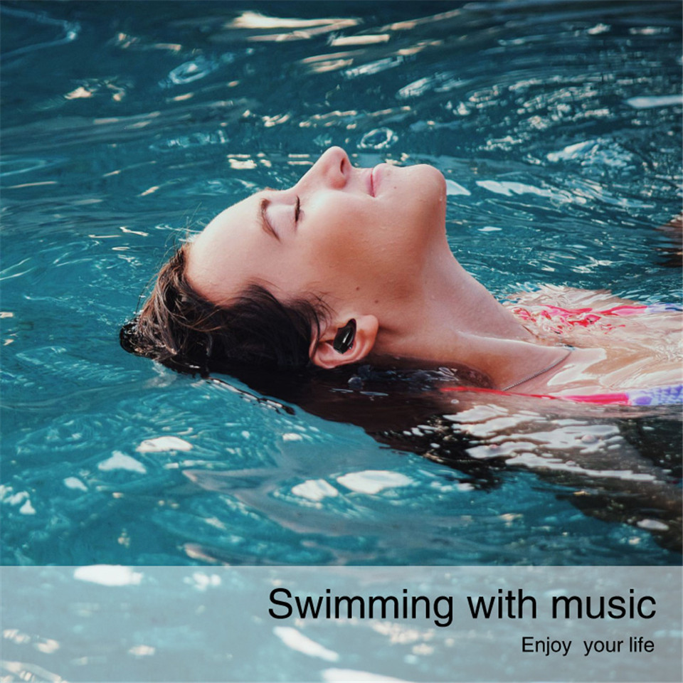 Volemer IP67 Waterproof Wireless Bluetooth Earphone Mini Invisible Earbuds With Microphone HD Music Headset for Swimming Lover
