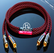 HIFI amp audio cable RCA line thickened wall connector canare professional power amp cable size 0.5m 1m 1.5m 2m(China)