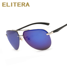 ELITERA Aluminum Magnesium Polarized Sunglasses Men Driver Sun glasses Male Fishing Outdoor Sports Eyewear For Men(China)
