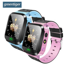 Greentiger Q02 Enfants Montre Smart Watch Caméra Éclairage Tactile Écran SOS Appel Suivi LBS Location Finder Enfants Bébé Montre Smart Watch(China)