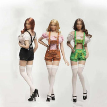 1/6 October Girl Clothes Ruffle Shirt & Shorts Stocking Shoes Cosplay Set For 12 inches Female Action Figures(China)