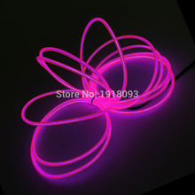 Fashion 3.2mm 5Meter 10 Color optional Flexible EL wire set Neon Thread holiday lighting Toys For Festival decoration(China)
