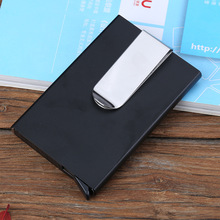 2017 New Thin Automatic Flick-out Aluminum Metal RFID Wallet Business Card Holder Cases Magnetically Shielded Card ID Holders
