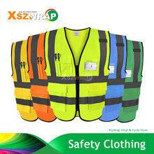 High Quality High Visibility Reflective Vest Working Clothes Motorcycle Cycling Sports Outdoor Reflective Safety Clothing(China)