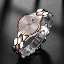 Top Brand Popular Trend Women Business Party Watch Charming Simple Dial Life Waterproof Alloy Strap Lady Elegant Wristwatch
