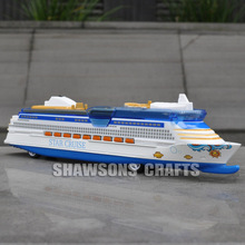DIECAST METAL 1/1400 SHIP MODEL STAR CRUISE CRUISELINER REPLICA PULL BACK WITH SOUND & LIGHT(China)