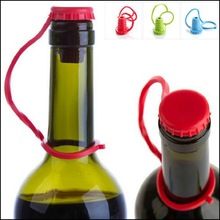 by DHL or EMS 500 pcs kitchen anti-lost wine cork seasoning beer silicone bottle stopper hanging button plug bottle cap cover