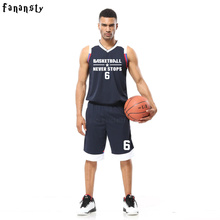 College basketball training suits cheap custom basketball uniforms men high quality basketball sets DIY basketball jerseys(China)