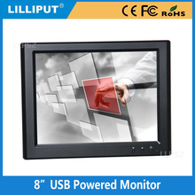 Lilliput 8 inch TFT LCD USB Powered Touch screen Monitor NOT VGA input, just USB Input, UM-80/C/T TFT USB Monitor
