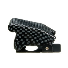 1pc Carbon Fiber New Toggle Switch Waterproof Boot  Plastic Safety Flip Cover Cap Most Popular