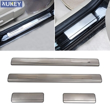 Fit For 2005 2006 2007 2008 2009 2010 2011 Ford Focus 2 Mk2 Stainless Door Sill Panel Scuff Plate Kick Step Cover Trim Protector(China)