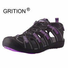 GRITION Women Summer Water Sandals Outdoor Sport Shoes Quick Dry Dreamy Purple Slip On Easy On Easy Off Toecap Zapatos Mujer(China)