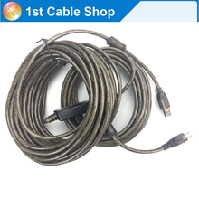 High speed USB 2.0 active cable USB 2.0 A male to B male printer cable cord 10M 33ft(China)