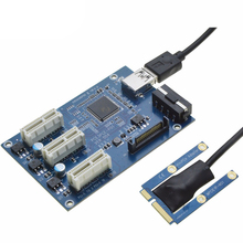 Mini PCIe 1 to 3 PCI express 1X slots Riser Card Mini ITX to external 3 PCI-e slot adapter PCIe Port Multiplier Card