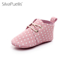 New SilvaPuellis Beautiful First Walker Shoes Baby Moccasin Newbron Boys Girls Genuine Leather Crib Soft Bottom Shoes(China)
