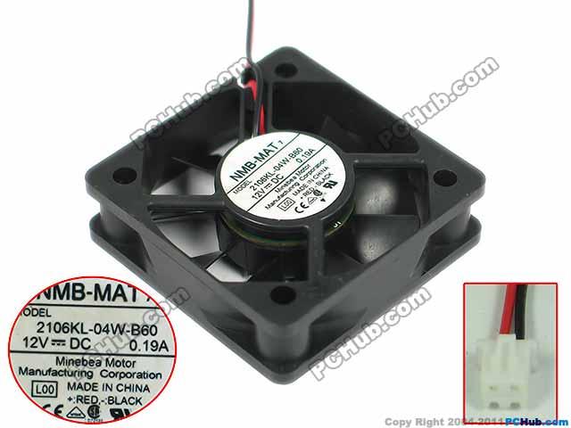 NMB-MAT 2106KL-04W-B60, L00 DC 12V 0.19A, 50x50x15mm    Server Square fan<br>