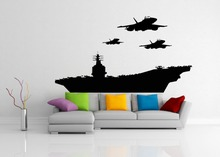 Aircraft Cool Silhouette Wall Decals American Fighters Jets Plane Morden Military Wall Sticker Home Cool Decor Vinyl Mural M-39