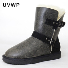 New Fashion Design Top Quality Genuine Sheepskin Natural Fur Snow Boots 100% Wool Women Warm Winter Snow Boots Women Boots(China)