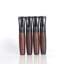 1 Pcs Ebony Pipe Filter Wood Smoking Pipes Herb Tobacco Pipe Cigar Gifts Narguile Weed Grinder Smoke Cigarette Holder Mouthpiece