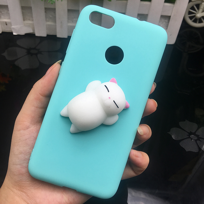 3d Squishy Cat Silicon TPU Soft Cases For Huawei P20 lite P20 pro P9 lite mini 2017 Candy Color Back Cover Honor 8 lite P10 plus (8)